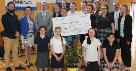 L'école gagnante 2016: Le Collège du Sacré-Coeur