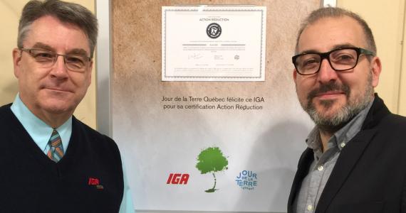 20170301_Dany_Labbe_IGA_extra_Riviere-du-Loup_CORPO_Action_Reduction_jour_de_la_terre_Quebec
